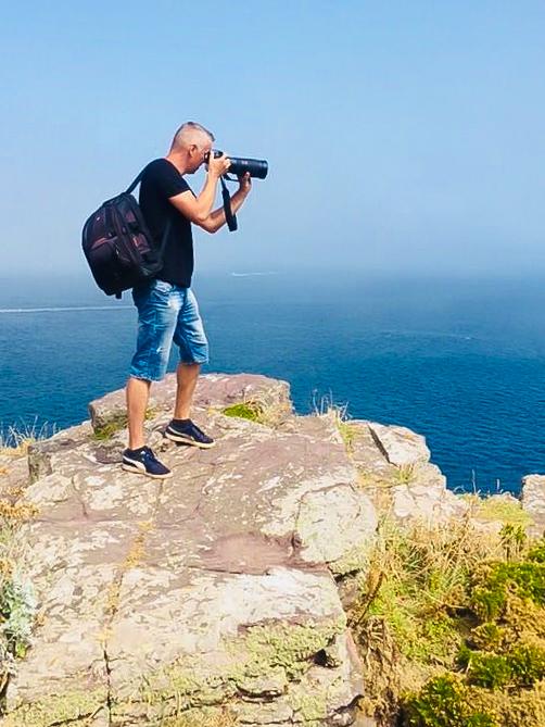Johan aan het fotograferen